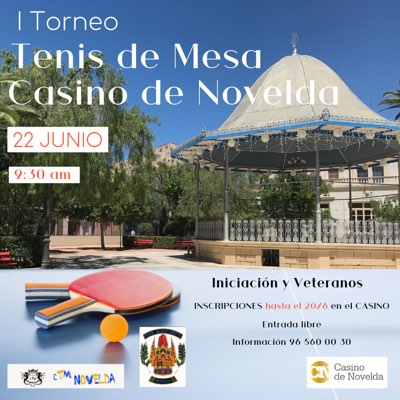 Torneo tenis de mesa Casino de Novelda